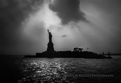 Liberty (99baggett) Tags: 1985 manhatten newyork vacation statueofliberty liberty bw jmb1950