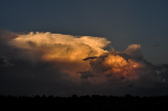 Storm Chasin' (A E Armstrong) Tags: clouds storms sunset light glow sky soft evening