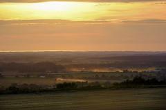 Sunset Harvest (JodBart) Tags: billingehill billinge wigan viewpoint hill sunset sun light