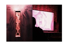 Scary movie (Towner Images) Tags: scary thriller film movietheatre movie abc limestreet liverpool door claw clawing mood cinema picturehouse silhouette towner townerimages screen curtain drape red maroon velvet