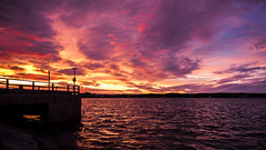 Night sailing (Jens Haggren) Tags: olympus em1 night evening sea seascape landscape water sky clouds colours pier nacka sweden