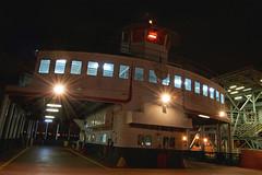 Algiers Point Ferry Service, New Orleans, LA. (Flashlight to Streetlight) Tags: algiersla algiersferryterminal morganstreet mississippiriver river waterway boat ferry neworleansla night nightshot nightscape cityscape longexposure