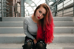 Zoe (Lumowelt) Tags: russia yaroslavl shinnik girl redhair redhead portrait abandoned beautiful autumn street     retrato staircase