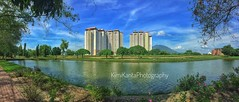 Playing with my Iphone 5s (KIMI KANTA) Tags: panorama bluesky river niceview niceweather iphone5s snapseed