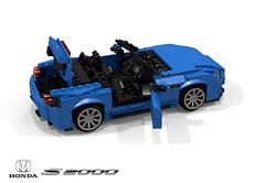 Honda S2000 Roadster (lego911) Tags: honda s2000 ssm roadster convertible 1999 1990s sports sportcar vtec auto car moc model miniland lego lego911 ldd render cad povray lugnuts challenge 107 saturdaymorningshownshine saturday morning show n shine japan japanese