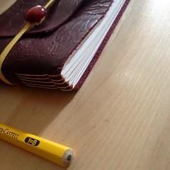 Giallo (La Stanza di Wendy) Tags: bottoni notes lastanzadiwendy quadernoinpelle longstitch rilegatura bookbinding
