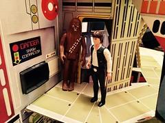Trash Compactor Entrance (Tracheotomy Bob) Tags: star wars palitoy death toys han solo chewbacca chewie trash compactor