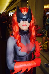 DSC_0435 (Randsom) Tags: nycc 2016 newyorkcomiccon nycomiccon javitscenter october nyc newyorkcity cosplay costume fun comicbooks comicconvention dccomics batmanfamily heroine superheroine gloves spandex wig redlips batwoman buxom red mask female portrait