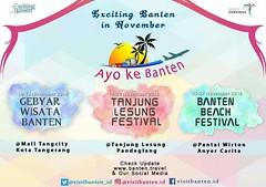 Exciting Banten in November Dalam rangka memeriahkan rangkaian Hari Jadi Provinsi Banten ke-16, Dinas kebudayaan dan Pariwisata Provinsi Banten mempersembahkan 3 even di bulan November... #AyoKeBanten ramaikan dan saksikan keseruannya, ikuti terus @visitb (kotaserang) Tags: ifttt instagram exciting banten november dalam rangka memeriahkan rangkaian hari jadi provinsi ke16 dinas kebudayaan dan pariwisata mempersembahkan 3 even di bulan ayokebanten ramaikan saksikan keseruannya ikuti terus visitbantenid untuk melihat konten acara apa saja yang ada nya salam excitingbanten by pesonaindonesia community media partner kotaserang explorebanten bantenbanget bantenvidgram bantenurban discoverbanten visitbanten bantenevents bantenexposure yicambanten exploretangerang