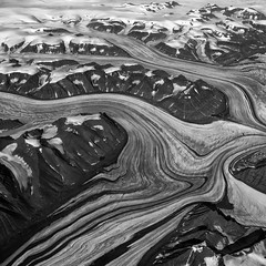 Patterns Of Eternity (AnyMotion) Tags: aerialview luftaufnahme greenland grnland kalaallitnunaat grnland ice eis glaciers gletscher mountains berge gebirge snow schnee landscape landschaft 2016 anymotion reisen travel 6d canoneos6d landschaftsaufnahmen bw blackandwhite sw square 1600x1600