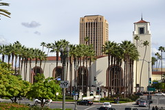 L.A. Union Station & the MTA building behind it. (ATOMIC Hot Links) Tags: california music art cali la smog losangeles downtown chinatown cops cityhall 110 driveby malibu 405 socal 18thstreet hollywood beverlyhills venicebeach nightlife westside plays watts lax picounion fairfax unionstation earthquakes lowrider gangs littletokyo freeways westla koreatown performances waltdisneyconcerthall dragnet tinseltown skidrow lapd thejungle musiccenter crenshaw opra randysdonuts eastla ghettobird the10 yarmulkes hoggs okiedog 1adam12 olveriastreet rolling60s soulrydah losangeleschamberorchestra theshaw woddysbarbq socalculture dorothychandlierpavillion tommyhamburgers brotherhoodofstreetracers rampartdiv 77thdiv wilshirediv hollenbeckdiv shakytown cruznites elreytacos hoggsup
