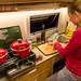 Preparando um estrogonofe de carne de lhama
