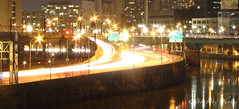 Blurring Traffic (Soapbox Girl (Carol Anne)) Tags: longexposure philadelphia traffic philly expressway schuylkillexpressway 1minuteexposure