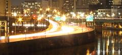 Blurring Traffic (Soapbox Girl (Carol Anne)) Tags: longexposure philadelphia traffic philly expressway schuylkillexpressway 1minuteexposure