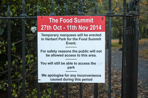 The Food Summit In Herbert Park - Autumn 2014 Ref -1163