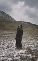 (Erin Graboski) Tags: snowflake winter portrait selfportrait snow art nature field da