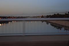 Los Angeles River (jjldickinson) Tags: nikond3300 100d3300 nikon1855mmf3556gvriiafsdxnikkor promaster52mmdigitalhdprotectionfilter losangelesriver lariver bridge terminalisland harbor longbeachharbor freeway seasidefreeway oceanboulevard westlongbeach night evening dusk gloaming motionblur longbeach