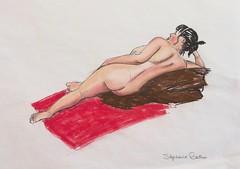 # 25 Stephanie Gauthier - Genevive de dos (artneuf) Tags: art dessin corps cours modlevivant artneuf