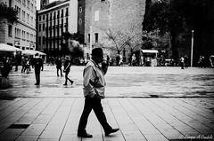 """Street photo"" - smoke (hunter of moments) Tags: barcelona street city light shadow sky people urban white man black art blanco luz window architecture contraluz landscape ventana lights spain arquitectura nikon gente geometry top negro bcn ciudad catalonia cielo urbana streetphoto urbano simple sombras fotowalk beautifulphoto d7000"