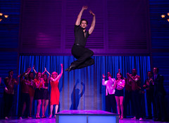 """Samuel Pergande (Johnny) and the company of the Broadway Sacramento presentation of """"Dirty Dancing – The Classic Story On"""" Stage at the Sacramento Community Center Theater Dec. 26, 2014 – Jan. 4, 2015. Photo by Matthew Murphy."""