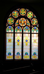 Classy Glass (mazzmn) Tags: christmas church window vintage colorful pattern religion stainedglass symmetry