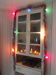 Vintage China Closet decked out for christmas (brown_dan72) Tags: mazda ge noma c9 alpinevillage vintagechristmas