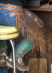 ranch_chaps_42 (ORcowboy52) Tags: spurs cowboy boots wranglers chaps chinks