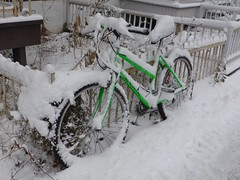 Time to get the skis out... (anng48) Tags: winter snow canada bicycle quebec montreal hiver bikes neige bicyclette qc velo