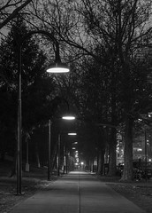 Street Lights (cruisecurtis) Tags: old bw white black skyline night canon nebraska downtown nightscape angle time market wide omaha scape f28 1635mm cnaon