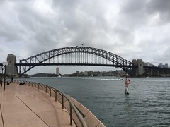 Famous Sydney Harbour Bridge - did you know you can walk over it - at its highest - they take tours over!