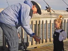 WANNA SEE MY FISH ?  ~  Listen: (Myrtle Beach SC) (Shein Die) Tags: ocean sky fish beach nature water kids pier fishing nikon south naturestudies