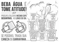 cartaz desperdcio de copo plstico (rodrigofigueiredo) Tags: water gua save plastic waste recycle recycling preserve avoid plstico conserve recicle desperdcio economize