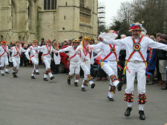 Boxing Day tradition (pefkosmad) Tags: uk england people music men costume women dancers dancing cathedral folk traditional performance boxingday gloucestershire entertainment gloucester noon morris tradition mummers gloucestercathedral dances ststephensday gloucestershiremorrismen