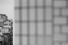 Shimokitazawa (Laser Kola) Tags: city abstract japan wall japanese tokyo blackwhite cityscape bokeh tiles 2008 shimokitazawa blackandwhitephotography canoneos5d hipsterarea lasseerkola laserkola