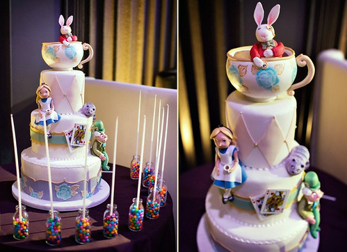 Alice in Wonderland Bat Mitzvah Cake