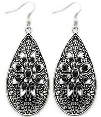 5th Avenue Black Earrings P5110A-1