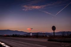 Strange cloud (renkata23) Tags: road trip travel light sunset cloud mountain signs clouds nikon hills bulgaria purplesky