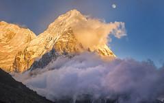 Himalayan Moon Rising (craigkass) Tags: nepal trekking asia himalaya kanchenjunga ramche theunforgettablepictures