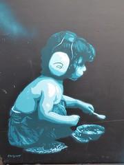 Graff in Grenoble (brigraff) Tags: blue streetart grenoble stencil panasonic urbanart pochoir arturbain artedelacalle tz60 panasonictz60 brigraff