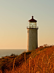 North Head Lighthouse (http://fineartamerica.com/profiles/robert-bales.ht) Tags: ocean statepark sunset red peo