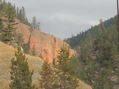 Red Rock Near Radium Hot Spring (miggsgreene) Tags: park canada bc national kootney