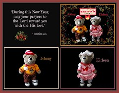 """""""During this New Year, may your prayers to the Lord reward you with His love."""" (martian cat) Tags: christmas texture newyears merrychristmas allrightsreserved happynewyea"""