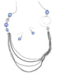 Glimpse of Malibu Blue Necklace P2710A-4