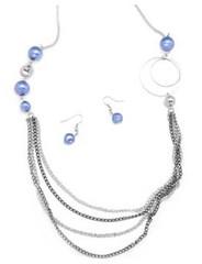 Glimpse of Malibu Blue Necklace P2710A-4