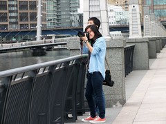 Docklands Photographer (Waterford_Man) Tags: people london girl photographer path candid docklands
