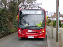 GAL MB 179 - YX62DYH - FRONT - LAYHAMS ROAD - TUE 15TH MAR 2016 (Bexleybus) Tags: road london ahead hall go 200 dennis coney 179 enviro metrobus adl orpington goahead layhams yx62dyh