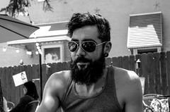 nice beard (Eric Baggett) Tags: friends portrait blackandwhite monochrome sunglasses beard portraiture bnw hotguy candidportrait leicalove shamelessgrounds leicaxvario portraitwithsoul