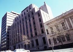 Melbourne Lonsdale St 436-450, 1987 20thC offices slides folder sheet 09  049 (Graeme Butler) Tags: industry history heritage events decoration culture architecture melbourne victoria australia