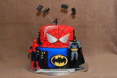Superhero cake (Eldriva) Tags: cake spiderman superhero batman figures