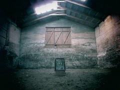 IMG_6845 (NapoleonIsNotDead) Tags: light shadow abandoned dark weird iceland wire ancient iron paint shine gloomy farm creepy warehouse horror lonely feelings obscure selfoss